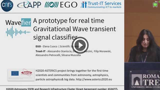 Wavefier: a prototype for a real time transient signal classifier - E.Cuoco, A.Staniscia, Workshop GARR 2019